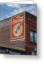 Bend Oregon Coke Sign Greeting Card by Gary Grayson