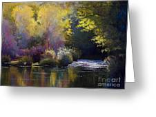 Bending With The River Greeting Card by Vicky Russell