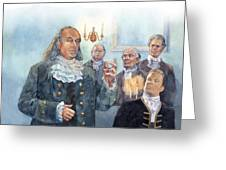 Benjamin Franklin At Albany Congress Greeting Card by Matthew Frey