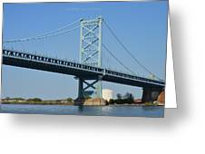 Benjamin Franklin Bridge Greeting Card by Sonali Gangane