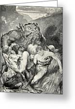 Beowulf Print Greeting Card by John Henry Frederick Bacon