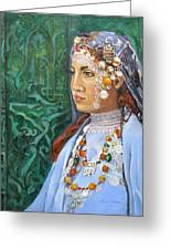 Berber Woman Greeting Card by Enzie Shahmiri