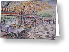 Berlin At The Armoury Art Market Greeting Card by Alfred Motzer