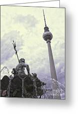 Berlin - Berliner Fernsehturm - Radio Tower No.04 Greeting Card by Gregory Dyer
