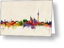 Berlin City Skyline Greeting Card by Michael Tompsett