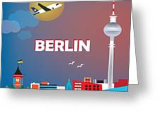 Berlin Greeting Card by Karen Young