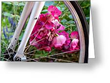 Bespoke Flower Arrangement Greeting Card by Rona Black