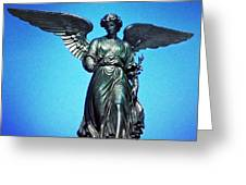 Bethesda Fountain Angel Central Park Ny Greeting Card by Kathleen Anderle