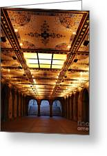 Bethesda Terrace Lower Passage Greeting Card by Lee Dos Santos
