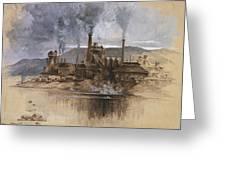 Bethlehem Steel Corporation Circa 1881 Greeting Card by Aged Pixel