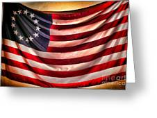 Betsy Ross Flag Greeting Card by Olivier Le Queinec