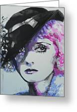 Bette Davis 02 Greeting Card by Chrisann Ellis