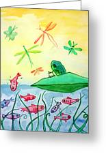 Between Two Worlds Greeting Card by Jo Ann