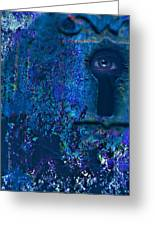 Beyond The Door - Abstract Greeting Card by J Larry Walker