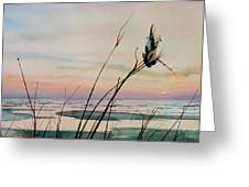 Beyond The Sand Greeting Card by Hanne Lore Koehler