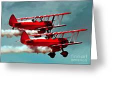 Bi-planes Greeting Card by Jerry L Barrett
