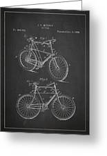 Bicycle Patent Greeting Card by Aged Pixel