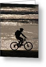 Bicycle Rider Greeting Card by Arie Arik Chen