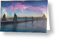 Bifrost Bridge Greeting Card by Cynthia Decker