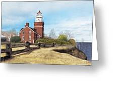 Big Bay Point Lighthouse Greeting Card by Darren Kopecky