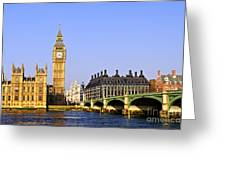 Big Ben and Westminster bridge Greeting Card by Elena Elisseeva