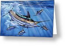 Big Blue And Tuna Greeting Card by Terry Fox