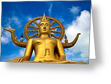 Big Buddha Greeting Card by Adrian Evans