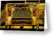 Big Dump Truck Grille Greeting Card by Amy Cicconi