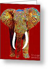 Big Elephant 20130201p0 Greeting Card by Wingsdomain Art and Photography