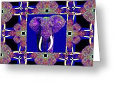 Big Elephant Abstract Window 20130201m118 Greeting Card by Wingsdomain Art and Photography