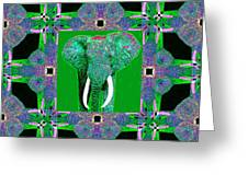 Big Elephant Abstract Window 20130201p128 Greeting Card by Wingsdomain Art and Photography