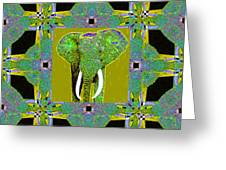 Big Elephant Abstract Window 20130201p60 Greeting Card by Wingsdomain Art and Photography