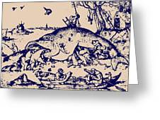 Big Fish Eat Little Fish Greeting Card by