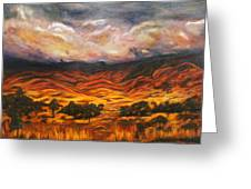 Big Gountry - Mac Donnell Ranges Australia Greeting Card by Lyndsey Hatchwell