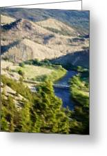 Big Hole River Divide Mt Greeting Card by Kevin Bone