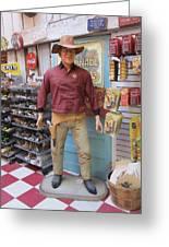 Big John Wayne Jefferson Texas Greeting Card by Donna Wilson
