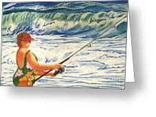 Big Momma Fishin' Greeting Card by Frank Giordano