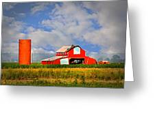 Big Red Barn Greeting Card by Marty Koch