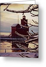 Big Red Ice Greeting Card by Dawdy Imagery