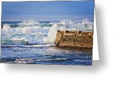 Big  Sea At Bondi Beach Australia Greeting Card by Colin and Linda McKie