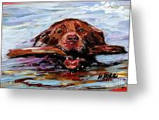 Big Stick Greeting Card by Molly Poole