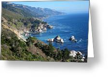 Big Sur Coast Ca Greeting Card by Debra Thompson