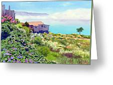 Big Sur Cottage Greeting Card by Mary Helmreich