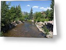 Big Thompson Estes Park Greeting Card by Kay Pickens