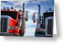 Big Trucks Greeting Card by Bob Orsillo