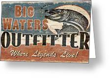 Big Waters Outfitters Greeting Card by JQ Licensing