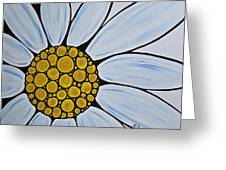 Big White Daisy Greeting Card by Sharon Cummings