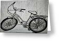 Bike 5 Greeting Card by William Cauthern