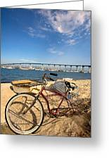 Bike And A Brdige Greeting Card by Peter Tellone