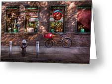 Bike - Ny - Chelsea - The Delivery Bike Greeting Card by Mike Savad